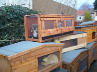 "rabbit hutch robust germ free 48""wide so easy cleaned worth viewing"