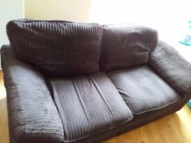 Fabric coffee brown Sofa Bed, good condition, bargain at £50 ONO.
