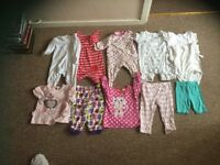 9-12 months baby girls clothes bundle