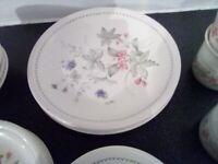 Crockery, cups, saucers,plates