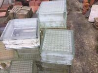 Original Art Deco Glass Blocks/ Bricks Ideal Shower Screen
