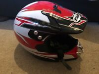 New with tags Moto cross helmet fits kids head size 57-59cm