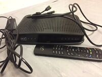 Virgin tv box with remote control and hdmi cable
