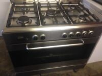 Silver Stainless gas cooker 90cm......Free Delivery