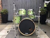 Ddrum Dios Maple 5 Piece Drum Kit Shell Pack + Cases