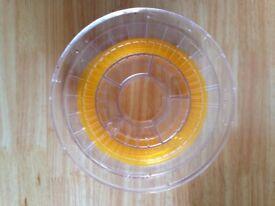 3d printing filament Yellow Transparent 2.85
