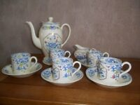 "Spode's ""ROYAL JASMINE"" coffee set"