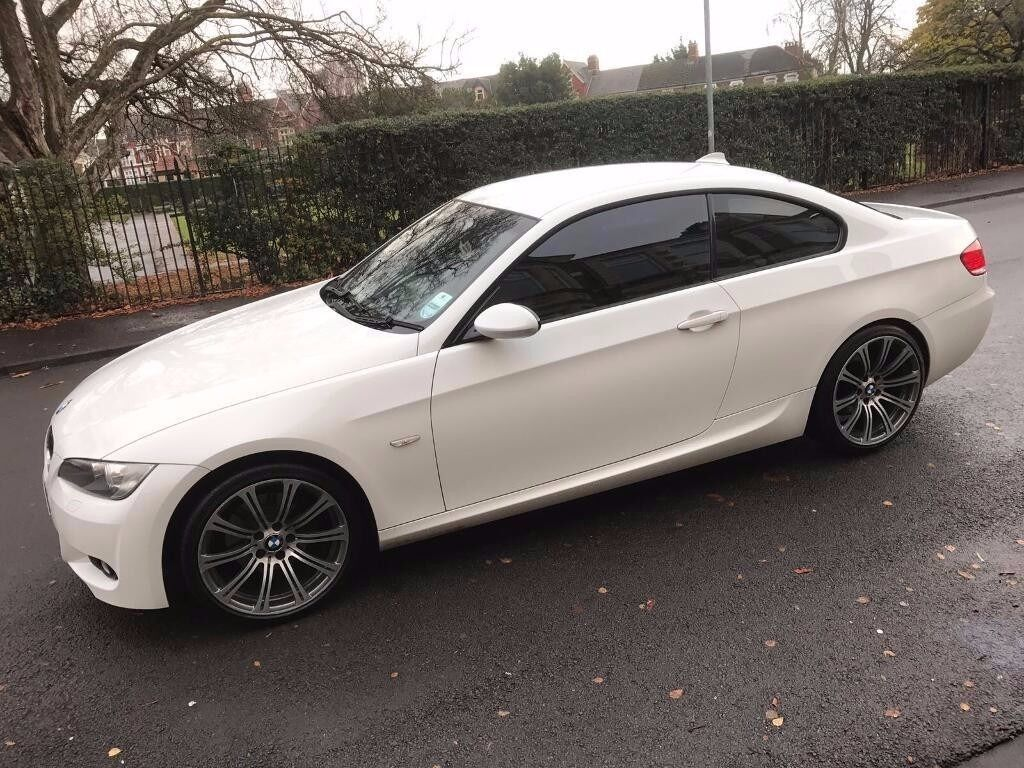white bmw 320 d m sport coupe with upgraded m3 wheels xenons aux idrive heated leathers in. Black Bedroom Furniture Sets. Home Design Ideas