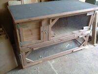 rabbit hutch with integral run