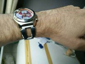 AKA retro chronograph watch Razor bracelet
