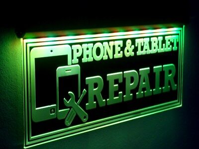 H015 Cell Phone Repair Led Sign Tablet Neon Open Light Mobile Unlocking Large 20