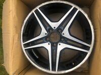 Mercedes Benz AMG 18inch Diamond Cut Alloy wheel A1764010302 (refurb required)