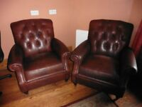 LEATHER CHAIRS X2