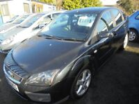 FORD FOCUS 1753cc ZETEC CLIMATE TDCI TURBO DIESEL 5 DOOR HATCH 2007-57, BLACK, 1 FORMER KEEPER,