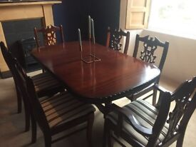 Dining Table, Chairs & 2 x Display Cabinets (single or set)