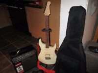 YAMAHA PACIFICA ELECTRIC GUITAR AND AMP- SEE PICTURES GREAT BUY OR *SWAP* SEE LISTING