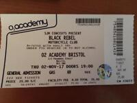 Black Rebel Motorcycle Club ticket