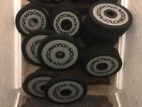 Technogym 160kg olympic weights plates