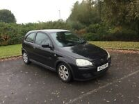 Vauxhall Corsa 05 reg in black low miles ,long mot,low insurance group,px welcome