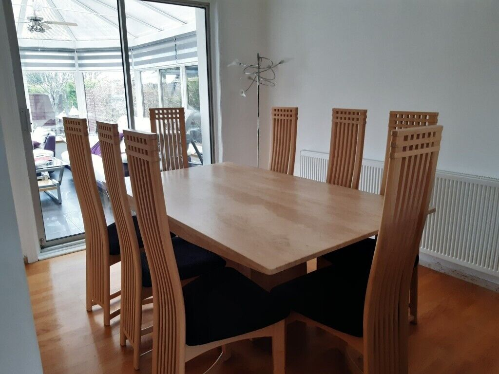 Marble dining table with 8 chairs | in Aberdeenshire | Gumtree