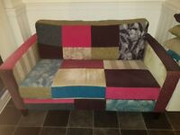 Peggy Patchwork 2 seater sofa. Immaculate