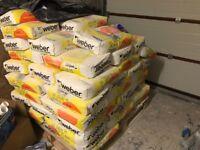 70 bags of Weber Colour Through One Coat Render Cream