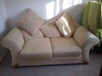 Cream Sofa bed rarely used