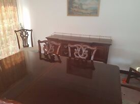 Dining Room Suite with sideboard. Excellent condition. Indonesian Teak.