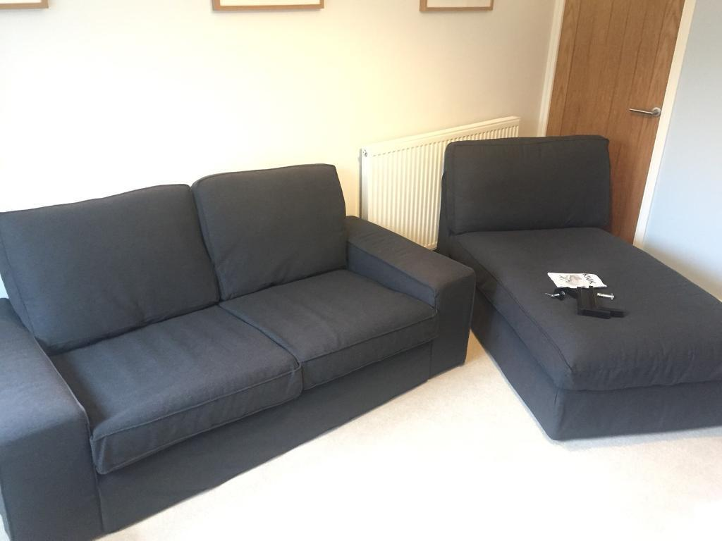 Chaiselongue ikea  Ikea Kivik 2 seater sofa and chaise longue | in Romsey, Hampshire ...