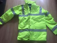 Hi vis padded jacket size small