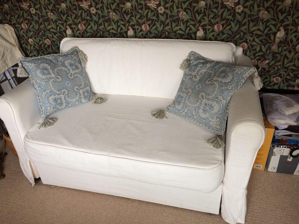 White Double Sofa Bed Ikea In Milton Keynes