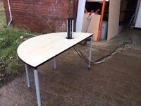 SEMI CIRCULAR OFFICE TABLE WITH POP UP MEDIA SOCKET
