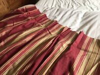 Made to measure Laura Ashley curtains latminer stripe red and gold .