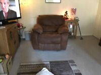 Recliner chair and 2 seater sofa for sale in new year bought in 2012
