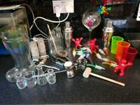 Home bar and cocktail joblot shakers pourers glasses corkscrew many more