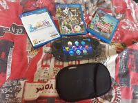 PS Vita with 4 games and extras