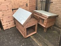 rabbit hutch and dog kennel display models