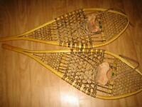 traditional Wooden Snow Shoes. Size 14 x 42.