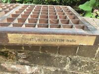 Old letterpress compositors type tray