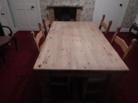 Solid Pine Dining Melrose Area collection in person only