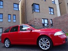 12 MONTH WARRANTY! (58) SKODA Octavia 2.0 TDi vRS 170 BHP Estate RED 1 Owner - Genuine 60,000 Miles