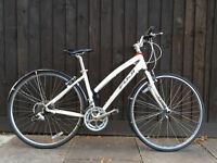 Fuji Absolute 3.0 Women's Flat Bar Road Bike - Triple 8 Speed in White