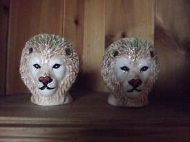 2 x Rare Lion Egg Cups
