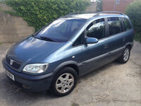 7 Seater People Carrier Vauxhall Zafira Elegance 16v 1.8 Petrol