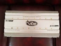 CAR AMPLIFIER VIBE 1600 WATT 2 CHANNEL STEREO AMP TO RUN THE SUBWOOFER OR DOOR SPEAKERS AMP