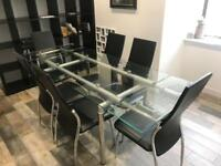 Glass Dining / Conference Table 6 8 seater