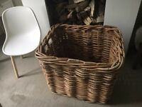 Huge wicker basket for logs or shoes or something...