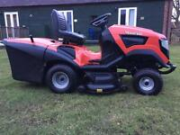 Ride on lawnmower lawn tractor garden mower