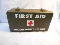 US WW2 jeep / Military Vehicle First Aid Kit Metal Container NO contents