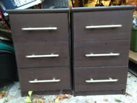 A pair of Dark Brown IKEA Bedside Tables